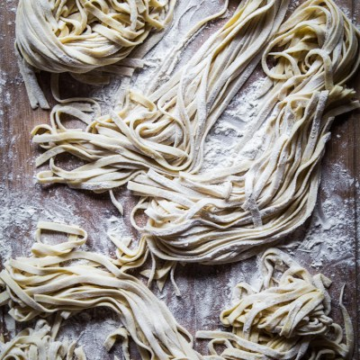 Homemade egg noodles (with pasta machine)