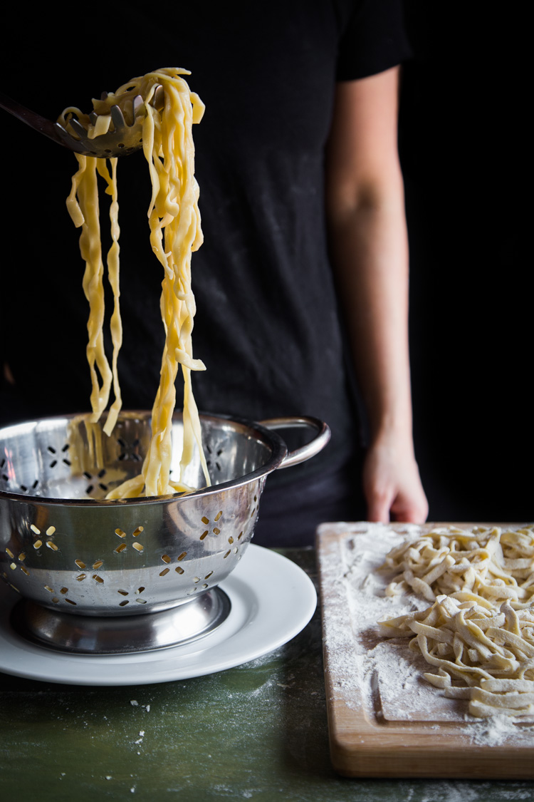 Homemade egg noodles (with pasta machine