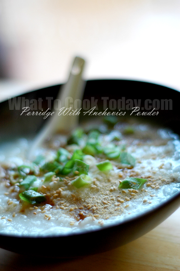 PORRIDGE WITH ANCHOVIES POWDER