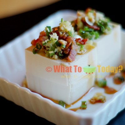 TOFU WITH CRUNCHY TOPPINGS