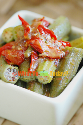 SPICY OKRA/ LADY'S FINGER STIR-FRY