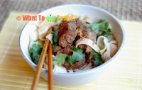 RICE NOODLES WITH RED-BRAISED BEEF