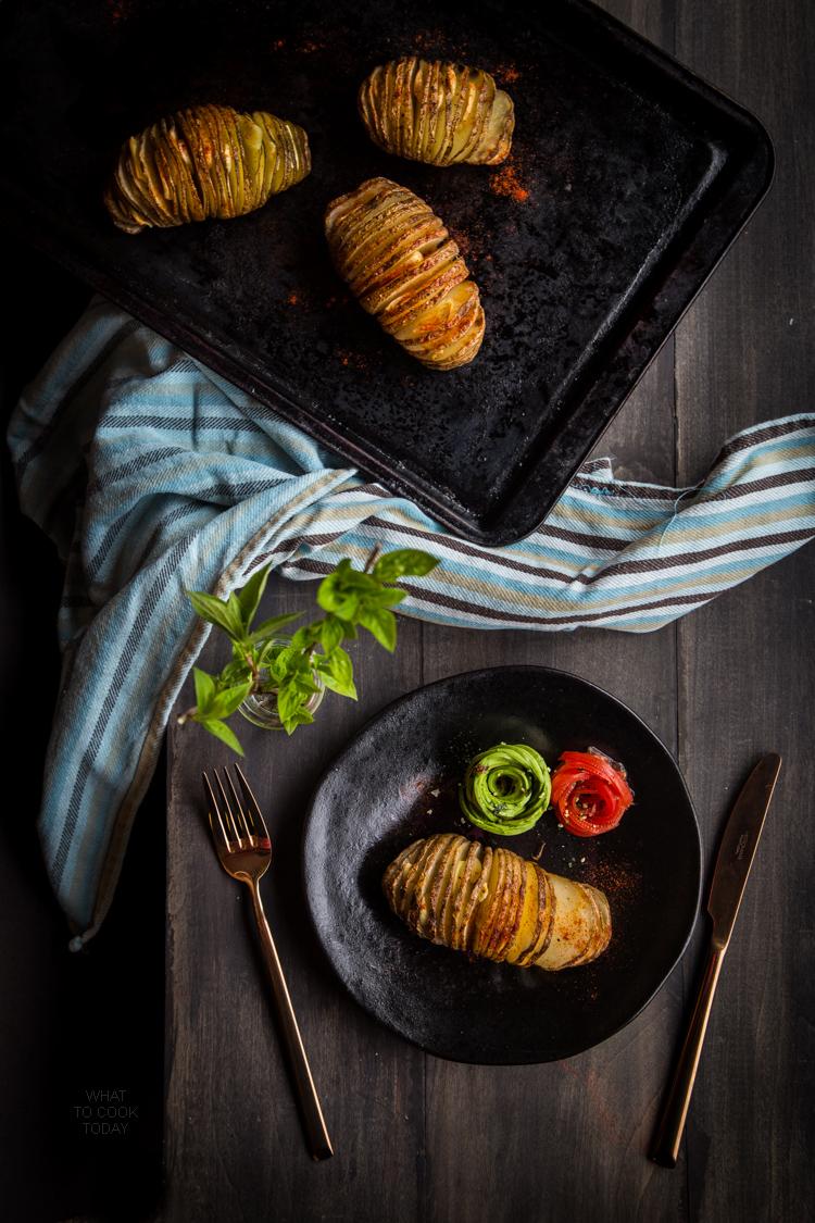 Hasselback roasted potatoes
