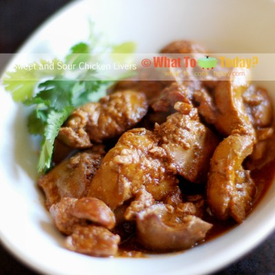 SWEET AND SOUR CHICKEN LIVERS