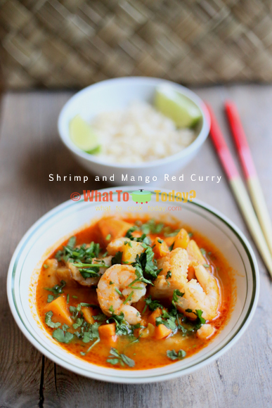SHRIMP AND MANGO RED CURRY