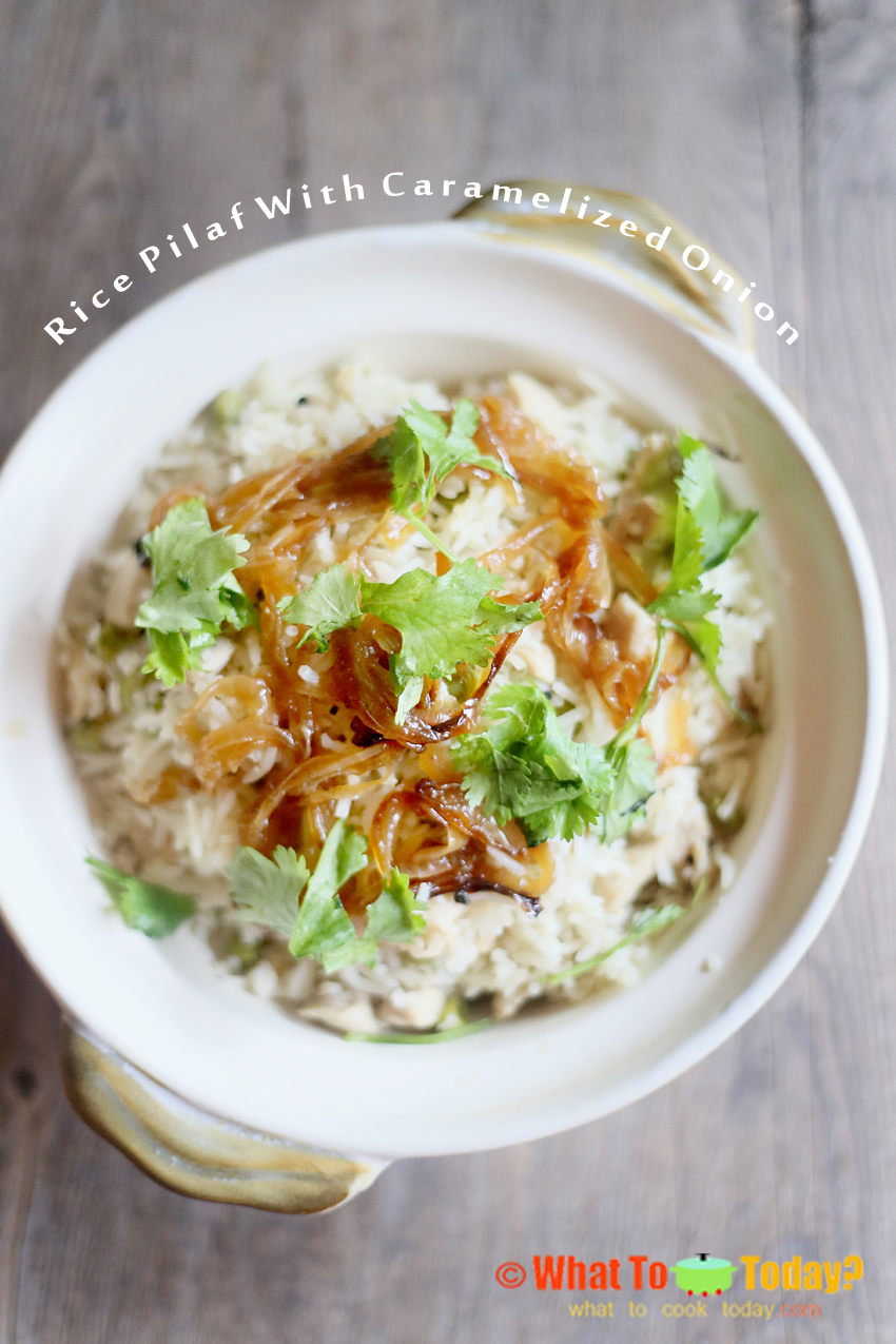 RICE PILAF WITH CARAMELIZED ONION