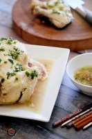STEAMED CHICKEN WITH GINGER AND SCALLION