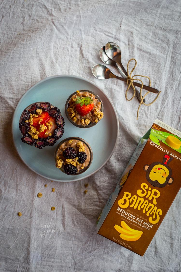 Very berry chocolate banana rice pudding #Bananamazing #ad
