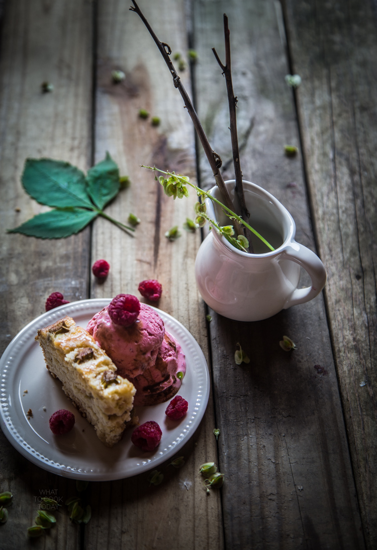 Rhubarb raspberry coconut milk ice cream