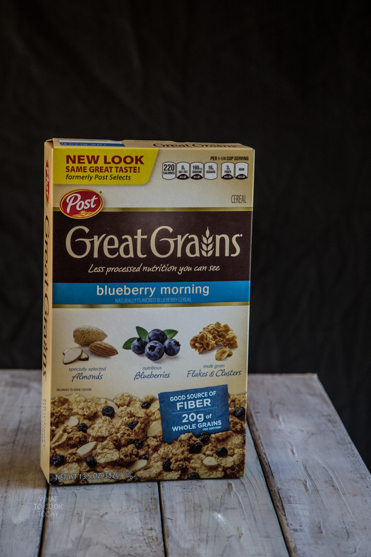 Great Grains Blueberry Morning Cereal #CerealAnytime #ad