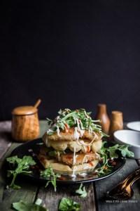 Panko Chicken and Waffles
