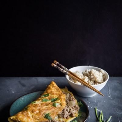Cambodian Pork Omelette (Pong Mouan Snol)