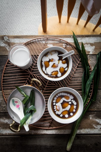 Bubur Biji Salak (Sweet Potato Dumplings with Coconut Sauce)