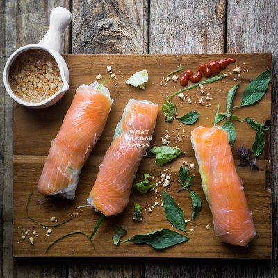 Smoked Salmon Fresh Spring Rolls