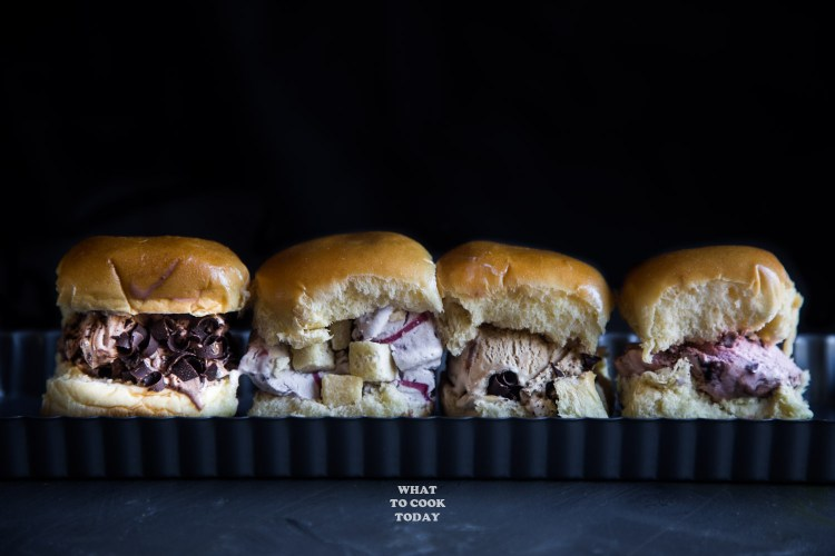 Ice Cream Brioche Sliders.Creamy and amazing ice cream flavors are sandwiched in between soft butter brioche sliders #ad #KempsLocallyCrafted