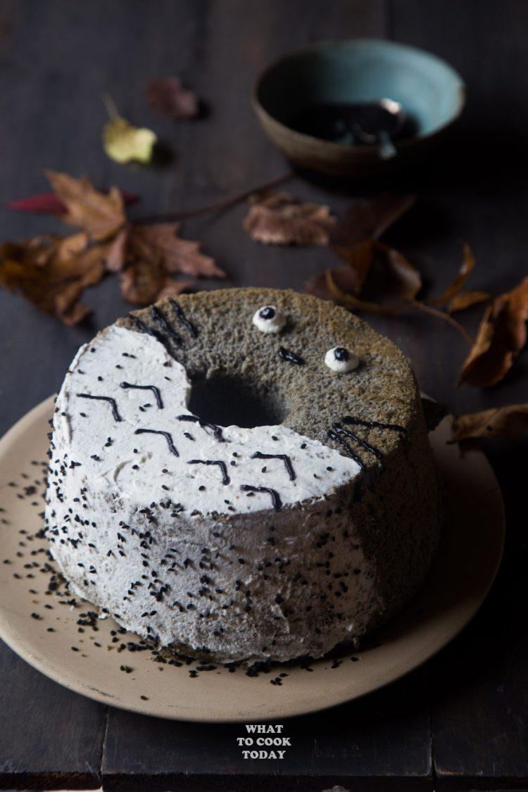 Totoro Black Sesame Chiffon Cake What To Cook Today
