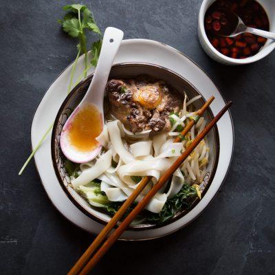 Instant Pot Oxtail Ho Fun Noodle Soup
