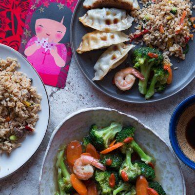 Broccoli Shrimp Goji Berry Stir-fry and Celebrating Chinese New Year