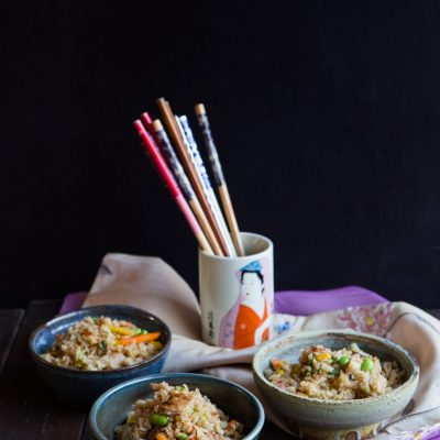 Yakitori Chicken Fried Rice (and giveaways)