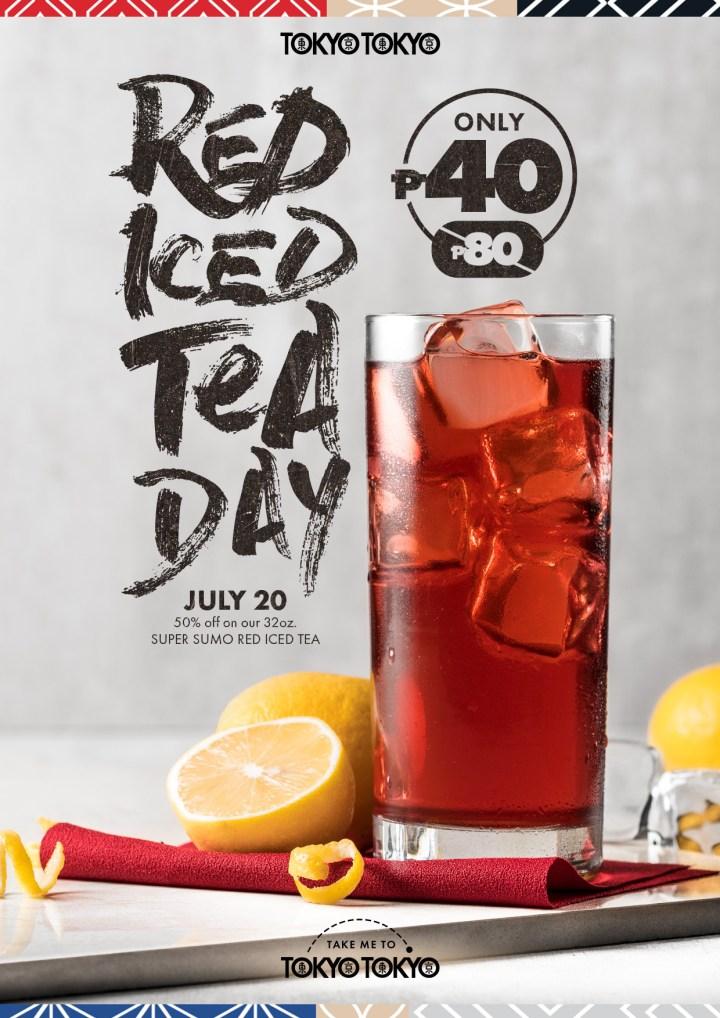 Tokyo Tokyo Red Iced Tea Day KV