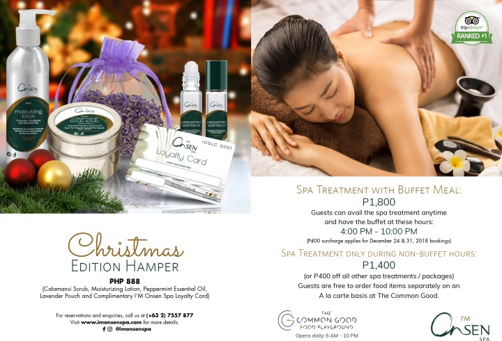 I_M Onsen Spa Christmas Edition Hamper and All-Inclusive Spa Package