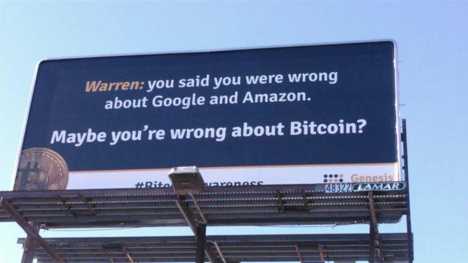 Майнеры затролли Уоррена Баффета билбордами за критику биткоина