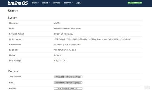 Доступна новая версия Braiins OS Cobalt для Antminer S9 и DragonMint T1