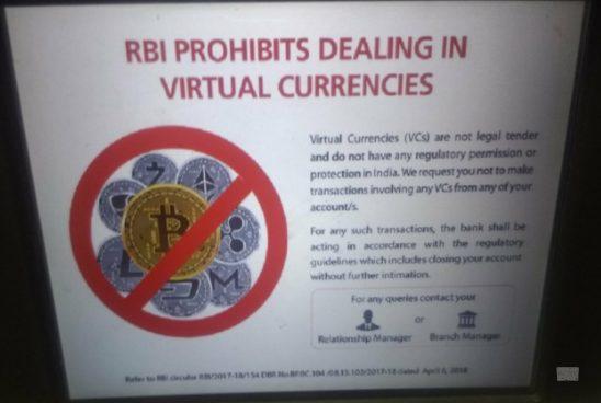 Индийские банки обязывают клиентов не заниматься криптовалютами