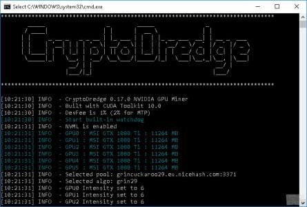 CryptoDredge 0.17.0 Nvidia Miner с поддержкой ряда новых алгоритмов