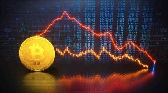 Биткоин опускается ниже $10 000