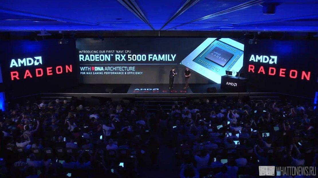 AMD анонсировала новую видеокарту RX 5700: RDNA, 7нм, PCIe Gen4, GDDR6