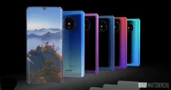 Показаны концепт-рендеры смартфона Huawei Mate 30