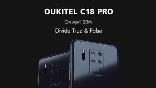 OUKITEL C18 PRO выйдет 20 апреля за $149