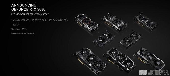 NVIDIA ограничит производительность GeForce RTX 3060 в майнинге Ethereum и выпустит видеокарты для майнеров