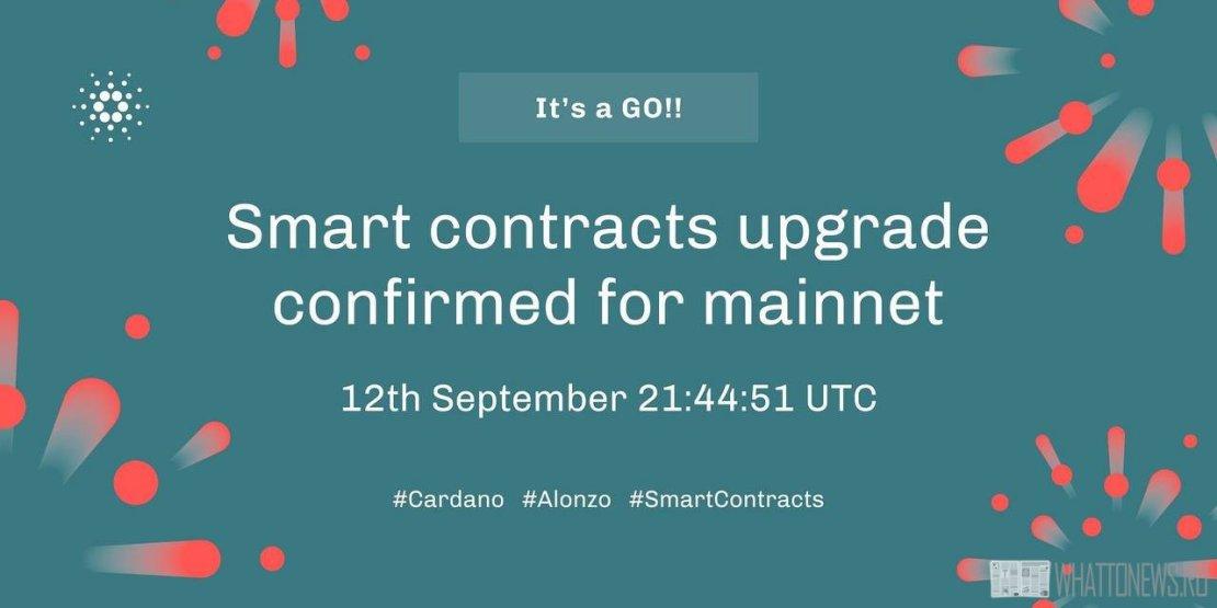 Подтверждена дата запуска смарт-контракта Cardano
