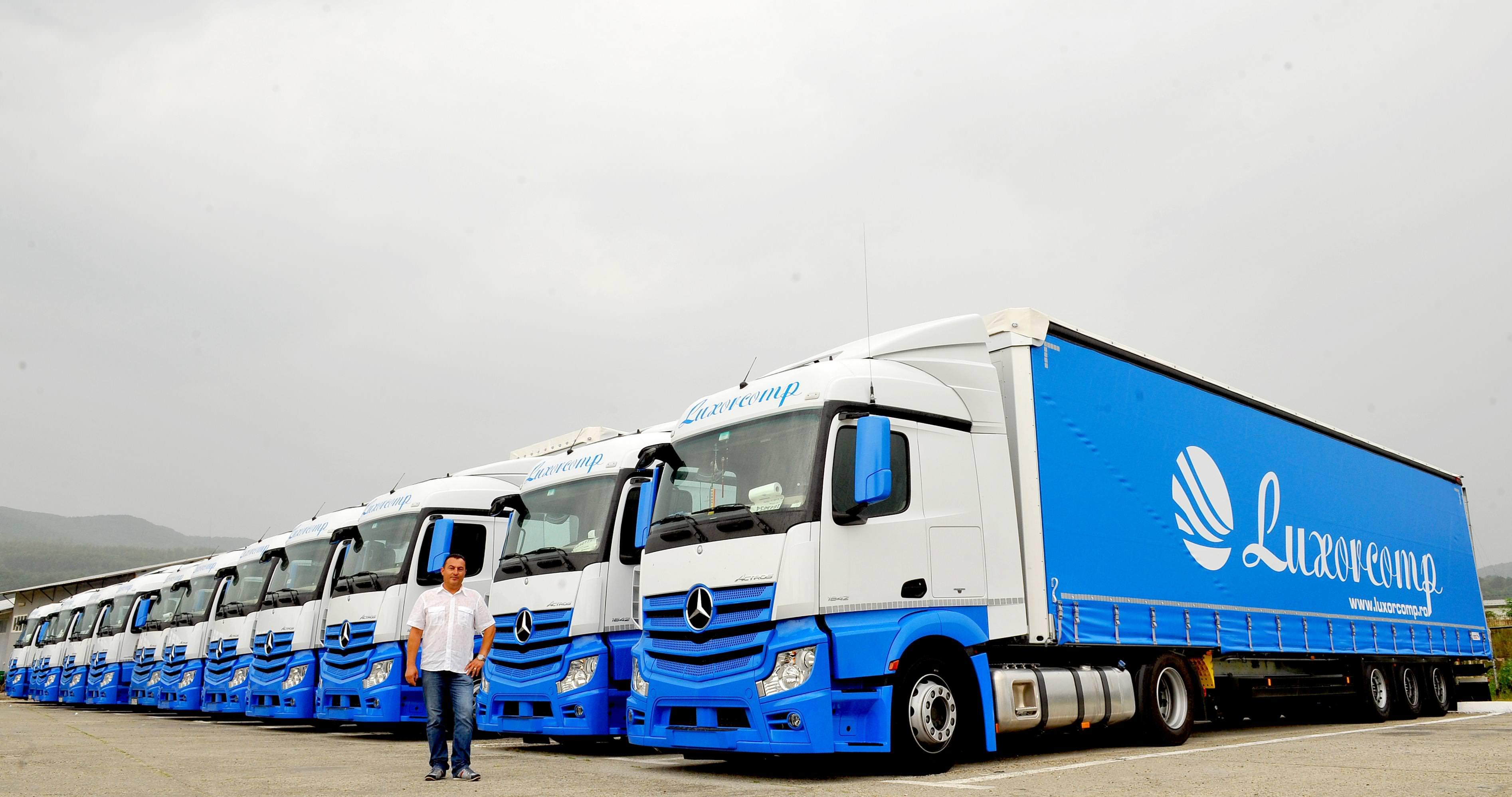Luxorcomp Valcea a cumparat 25 de camioane Mercedes Benz Actros 2013