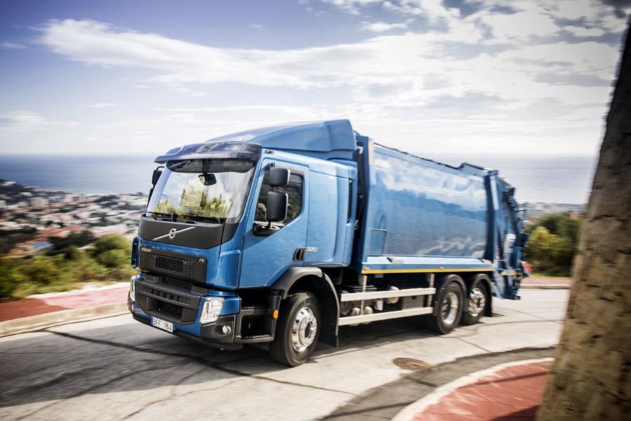 Primul test drive cu noul Volvo FE 2014 echipat cu motorizarea D8 Euro 6