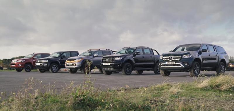 Toyota Hilux 2.4 D4D si Ford Ranger 2.2 TDCI sunt cele mai slabe modele pick-up 2018-2019!