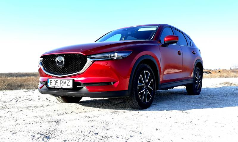 Test cu noua Mazda CX-5 Revolution TOP facelift 2.5 SkyActiv G 194 CP AT6 2019