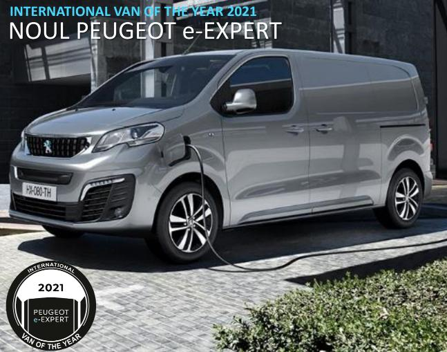 Noile modele Peugeot e-Expert si Citroen e-Jumpy castiga premiul de International Van of The Year 2021