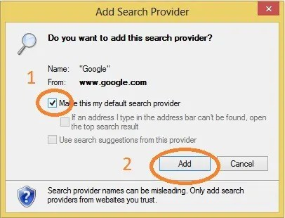 Quick Tip to Add Google search to IE address bar 1