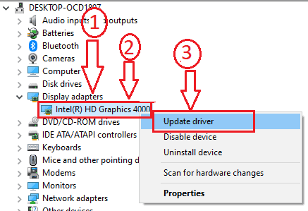 How to Update graphics card driver in Windows 10/8.1/8/7/XP 1