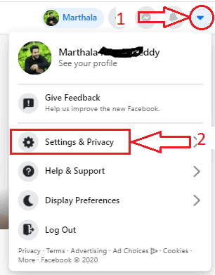 click on settings& privacy