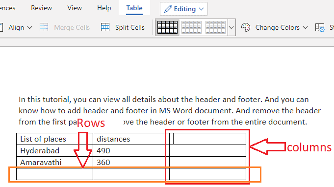 Insert row in word table: Easy to Add Row/Column/Cell 5