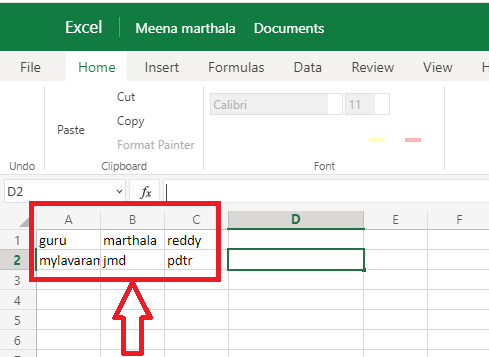 2 Ways To Combine Columns In Excel By Merging Cells 2