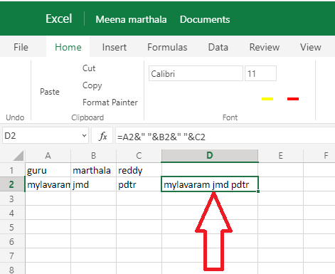 2 Ways To Combine Columns In Excel By Merging Cells 1