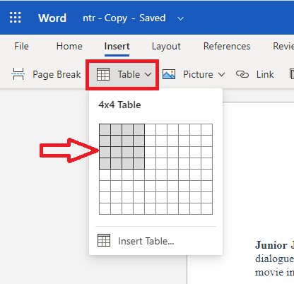 How to make a table in word? 6 Simple Methods 4