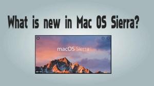 Mac OS in Sierra
