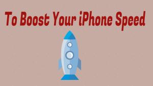 Boost iPhone Speed