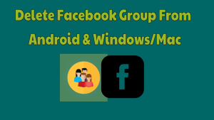 Delete Facebook Group From Android